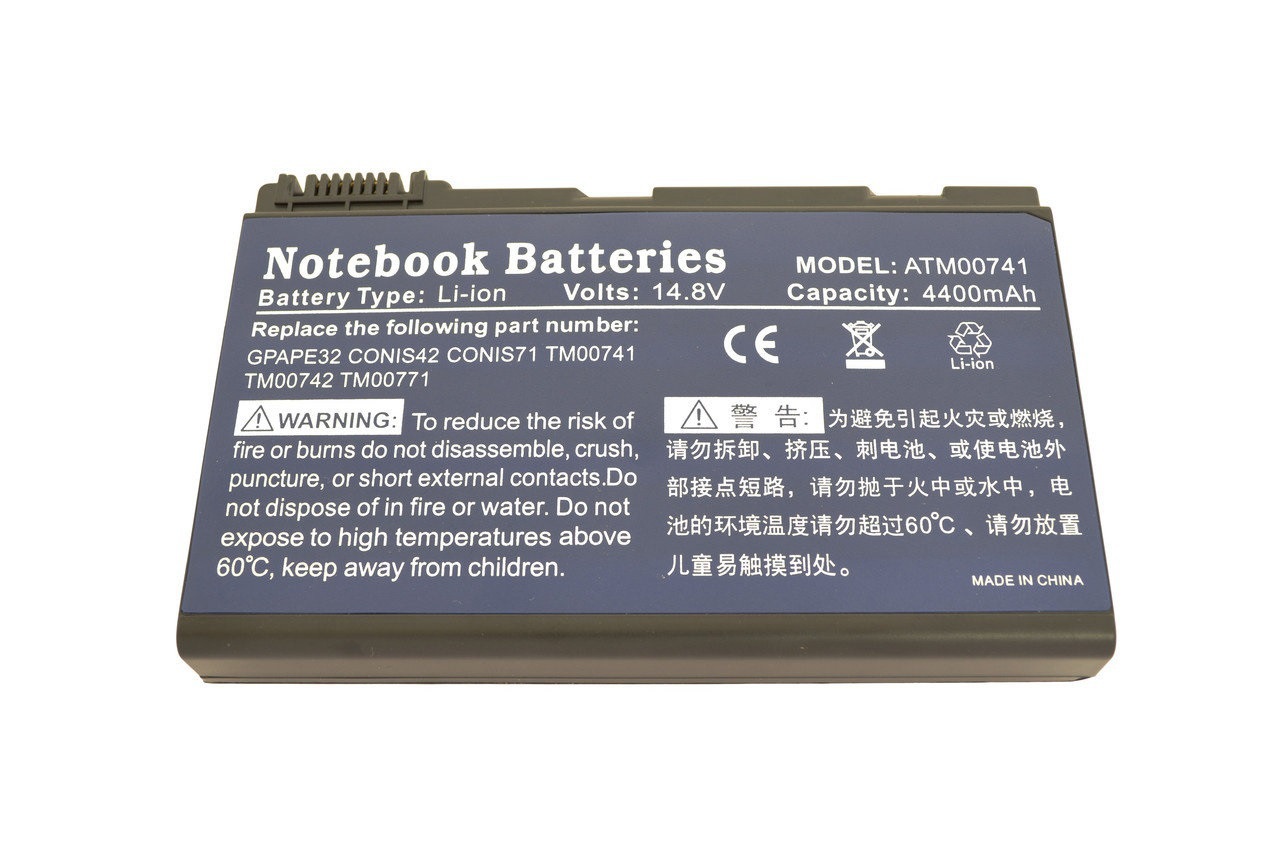 Аккумулятор Acer TM00742 14.8V Black 4400mAhr Extensa 5120 Extensa 542
