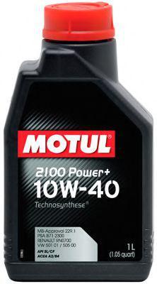 Масло 10W40 Power+ 2100 (1L), код 102770, MOTUL - ViaCars - интернет-магазин автозапчастей  в Луцке