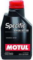 Масло 5W30 Specific (5L)  (VW504.00/507.00) (106375), код 101476, MOTUL