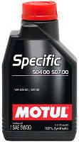 Масло 5W30 Specific (60L)  (VW504.00/507.00), код 101477, MOTUL