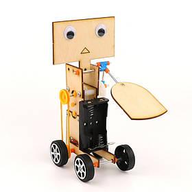 DIY Обучающие электрические Walking Swing Fan Robot Научные изобретения игрушки