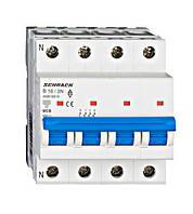 Автоматический выключатель  (МСВ), AMPARO, хар.В 16А, 6 кА, 3+N