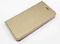 Чехол книжка KiwiS для Huawei P10 Lite золотой
