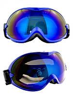 Маска горнолыжная/лыжные очки Nice Face 077: синий цвет