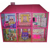 Ляльковий будиночок 6983 з меблями, 2 поверхи і 6 кімнат