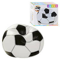 Надувное кресло футбольный мяч интекс Intex 108х110х66см (Intex 68557)