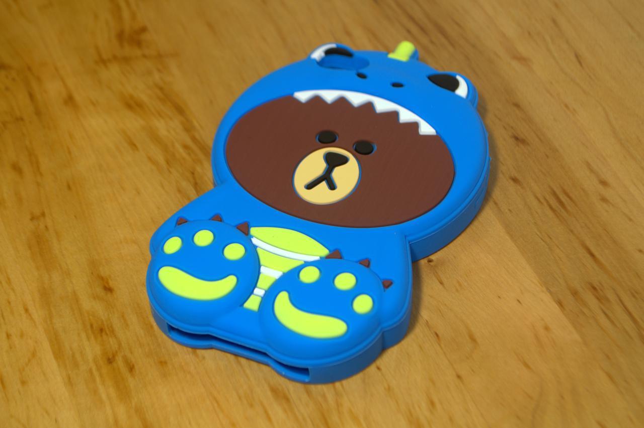 Резиновый 3D чехол для iPhone 6 Plus / 6S Plus Медведь