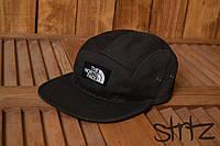 Крутая унисекс пятипанельная кепка реперская бейсболка топ качество тнф TNF The North Face черная реплика