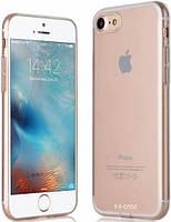 Ультратонкий TPU чехол с заглушками G-Case  для iPhone 7 Transparent Clear