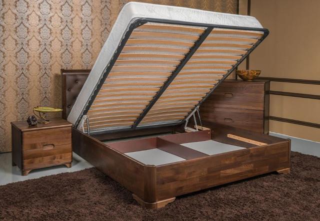 Кровать полуторная Милена Премиум с подъемным механизмом, изголовье ромбы (фото 3)