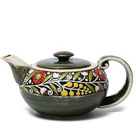 Чайник - 900 мл, Зеленый (Manna Ceramics)