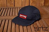 Летняя весенняя молодежная кепка снепбек реперка молодежная трашер Thrasher темно синяя реплика, фото 1
