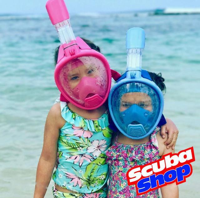 Детская полнолицевая маска для снорклинга SCUBA+ крепление GO PRO, размер XS