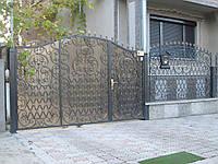 Ворота из профнастила В-44