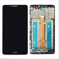 Дисплей модуль Huawei Ascend Mate 7 в зборі з тачскріном чорний з рамкою