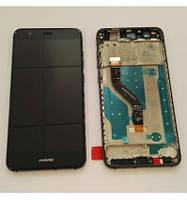 Дисплей модуль Huawei P10 Lite в зборі з тачскріном, золотистий, з рамкою