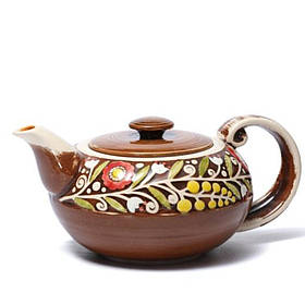 Чайник - 900 мл, Коричневый (Manna Ceramics)