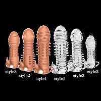 Многоразовый презерватив прозрачный стиль 1