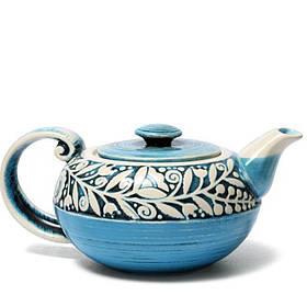 Чайник - 900 мл, Голубой (Manna Ceramics)