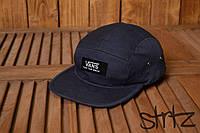Яркая спортивная кепка реперка молодежная унисекс ванс Vans темно синяя реплика, фото 1