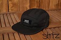 Яркая спортивная кепка реперка молодежная унисекс ванс Vans черная реплика