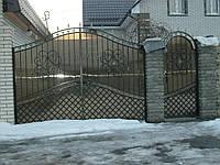 Ворота з профнастилу В-51