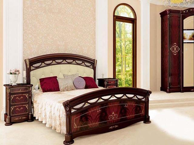 Ліжко з ДСП/МДФ в спальню Роселла 1,6х2,0 підйомне м'яка спинка з каркасом Миро-Марк