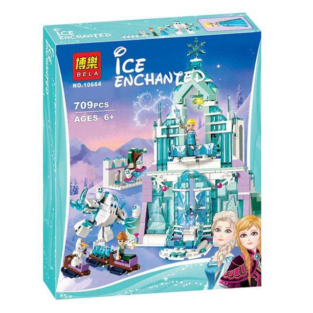 """Конструктор Bela 10664 Disney """"Волшебный ледяной замок Эльзы"""" 709 деталей."""