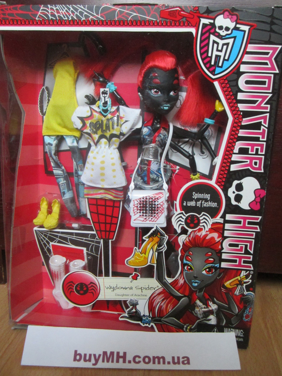 "Кукла Monster High WYDOWNA SPIDER I Love Fashion Doll Вайдона Спайдер (Вебарелла) Я люблю моду - Интернет-магазин ""Best Toys"" в Киеве"