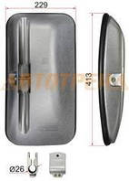 Зеркало заднего вида FAW левая сторона (413x229mm SR1200)