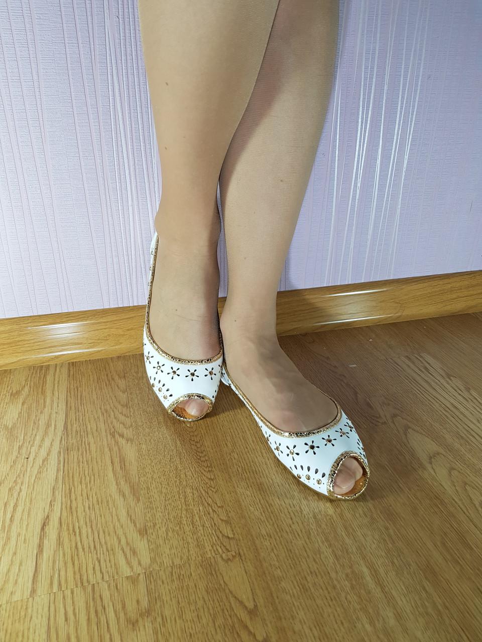 Балетки Lilir White 7