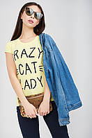 Футболка с надписями Crazy Cat Lady