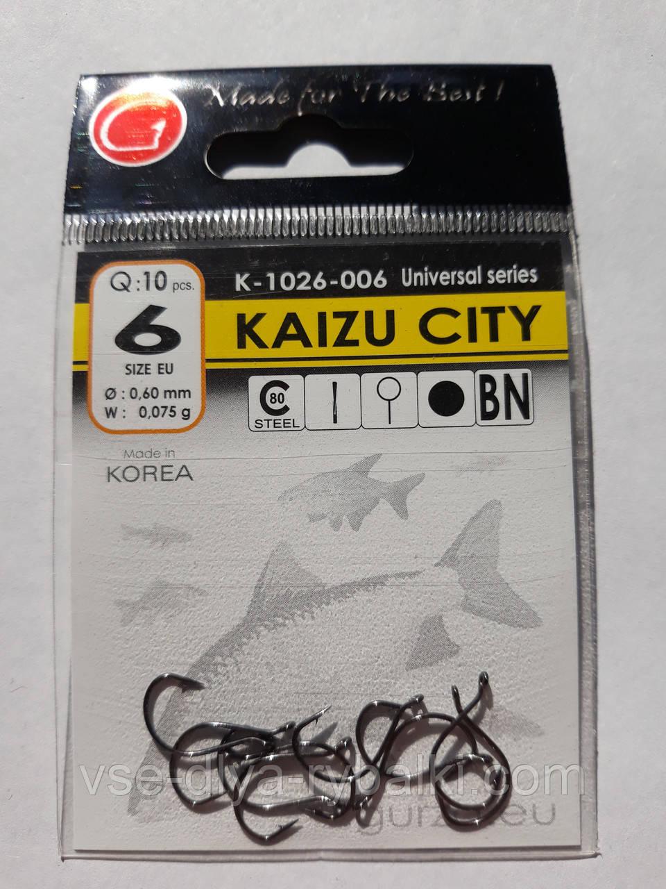 Крючки Gurza kaizu city № 6