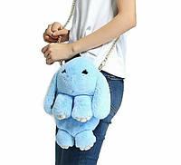 Сумка-рюкзак-игрушка КРОЛИК из натурального меха 11-03