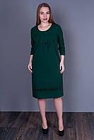 Стильное женское платье бутылочного цвета 5508 (в наличии 52 54 56 58), фото 1