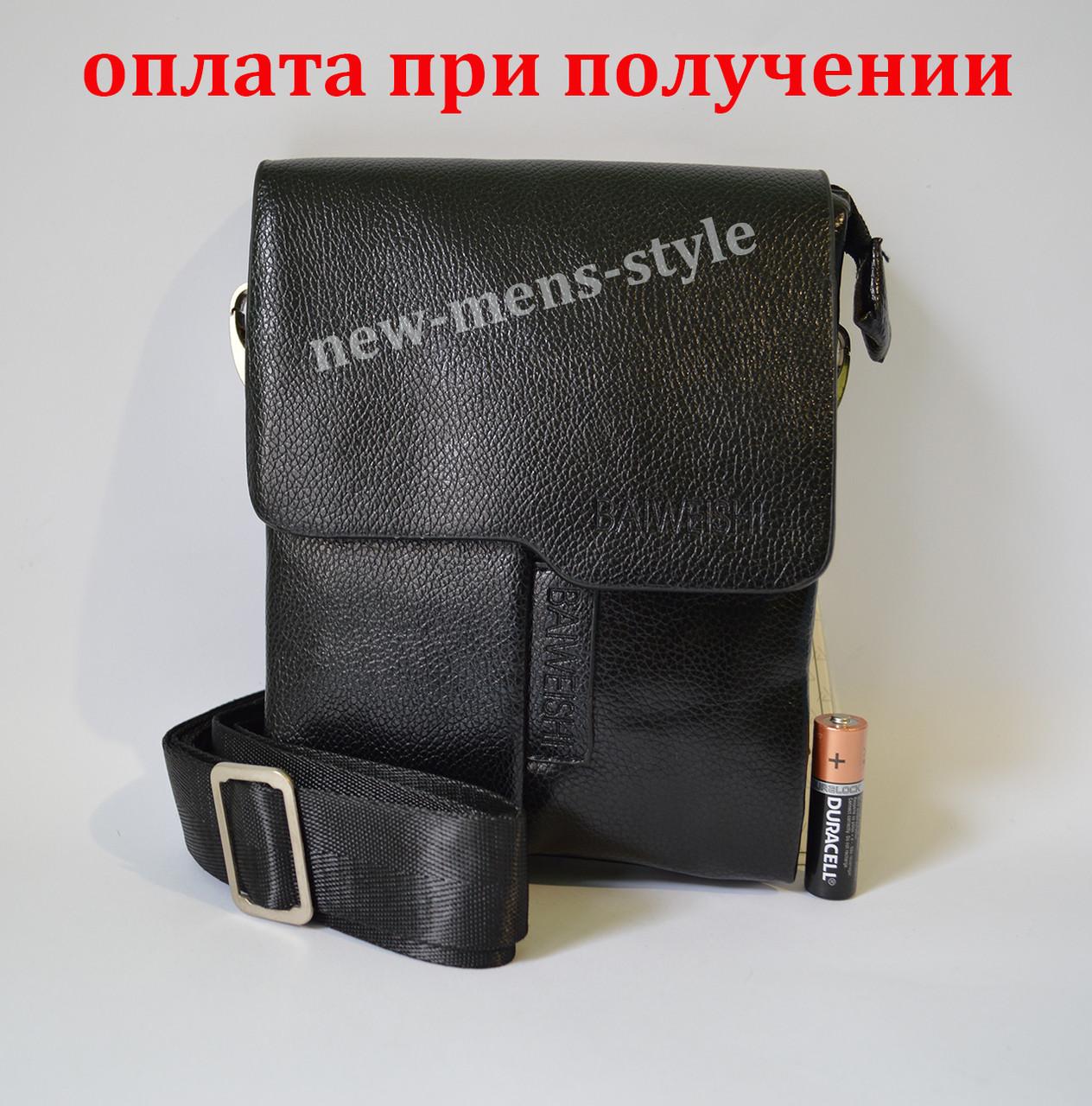 Мужская кожаная фирменная сумка барсетка BAIWEISHI Polo купить шкіряна 70cad989ff511