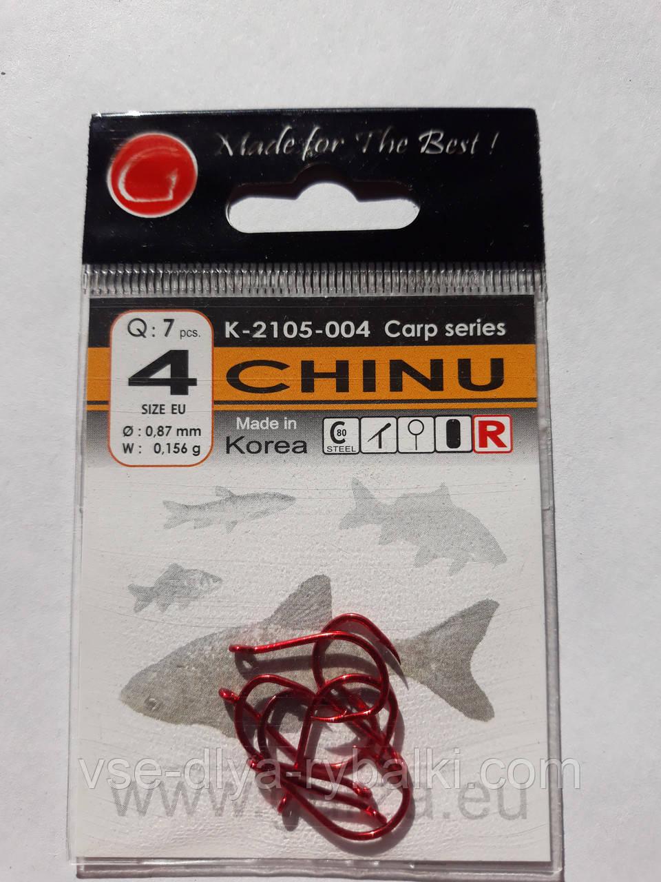 Крючки Gurza chinu red № 4