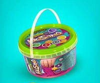Живой Кинетический Песок KidSand 500 гр в Ведерке +4 формочек Danko Toys