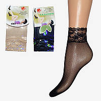Женские носки сетка с гипюром (NG703)