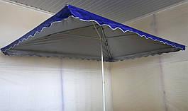 Зонт садовый, торговый, прямоугольный, с клапаном и напылением, 2.5 х 3.5, мод-010W