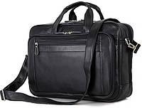 Стильная кожаная сумка для ноутбука