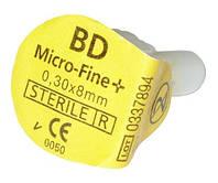 Иглы Микро-Файн (Micro-Fine) 8мм — 1 шт. (Ирландия)