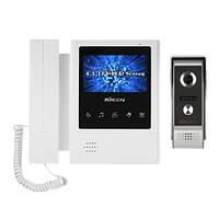 4.3 дюймов LCD Монитор Проводной видеодомофон Комплекты дверных звонков Поддержка ночного видения камера Двусторонняя аудиозащита для виде