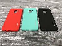 TPU чехол Smitt накладка бампер для Samsung Galaxy A8 (2018) (3 цвета)