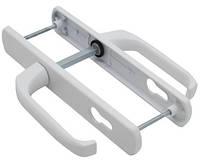 Нажимной гарнитур 85 мм для дверей ПВХ белый