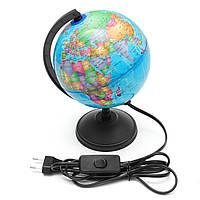 World Earth Globe Atlas Map География Образование Подарок C Вращающийся стенд LED свет