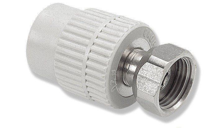 Муфта 32мм с накидной гайкой 1*1/4 дюйма (металлическая вставка) WAVIN EKOPLASTIK оригинал
