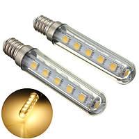 2X E14 2.5W SMD5050 16LEDs Теплая белая лампочка для кухни Холодильник Галерея AC220V