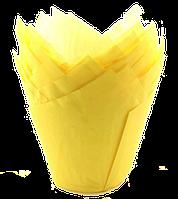 Форма бумажная Тюльпан желтая
