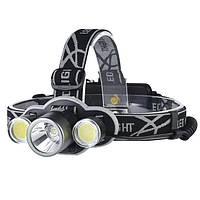 XANES 2505 1200LM Велосипедная фара 5 Режимы переключения T6+2 * COB Белый свет 180 ° Регулировка поворота HeadLamp